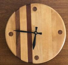 Vintage Mid Century Modern Wood Wall Clock
