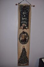 Boyds Bears It's A Beary Christmas Wall Hanging Tapestry Banner