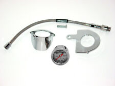 Jerzee Customs Oil Pressure Gauge Kit for Harley Davidson  EVO Big Twin -Chrome