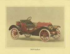 1909 HUDSON Auto PAINTING/PRINT ?Photo? from ?Brochure?