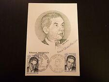 FRANCE PREMIER JOUR FDC YVERT 1825  EDMOND MICHELET    2X0,80+0,20F  PARIS 1975