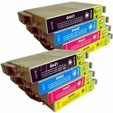 8 CiberDirect Replacements for Epson T0445 Printer Ink Cartridges - VAT Invoice