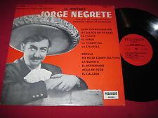 MEGA RARE LATIN MEXICAN LP - JORGE NEGRETE - EL INTIMITABLE - PEGASSUS 1004