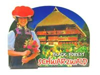Schwarzwald Holz 2D Magnet Black Forest Haus Tracht Souvenir Germany