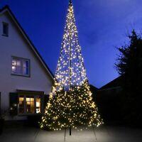 Large Outdoor FairyBell Pre-Lit LED Christmas Tree | Flag Pole Net Garden