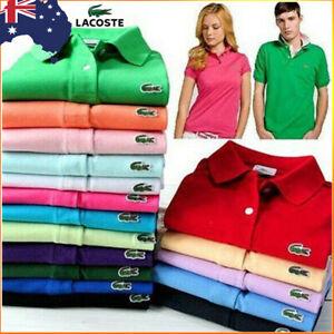 Unisex Men's Vintage Lacoste Casual Cotton Short Sleeve Polo Slim Fit T-Shirt AU