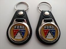 FORD CREST KEYCHAIN 2 PACK CLASSIC 1950 1951 1952 1953 1954 1955 1966  1960