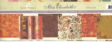Miss Elizabeth's 12 x 12 Scrapbooking 6 Page Paper Set - BRAUN