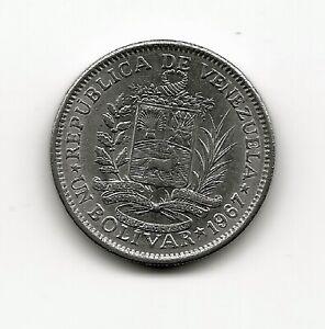 World Coins - Venezuela 1 Bolivar 1967 Coin Y# 42