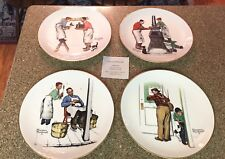 1979 Norman Rockwell Plates, A Helping Hand Four Seasons Gorham China Mint!