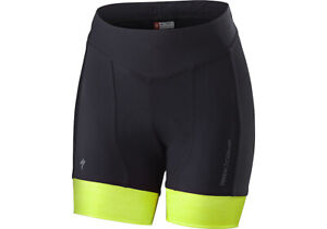 Specialized Women's Rbx Comp Shorty Shorts Black / Neon Yellow - Medium