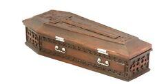 Brown Vampire Coffin Casket with Cross Jewelry Trinket Box