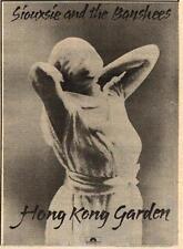 Siouxsie Banshees Hong Kong Garden UK '45 advert 1978