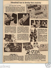1966 PAPER AD Formex 7 Monster Casting Toy Set Dracula Mummy Wolfman Doll Family