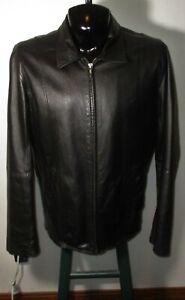 Men's WILSONS Leather Black Full Zip 100% Leather Jacket Size L