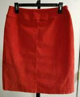 J Jill Women's Burnt Orange Corduroy Skirt, NWT, Size 4