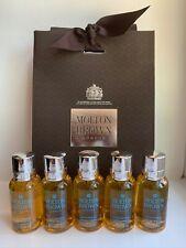 Molton Brown Suma Ginseng Shower Gel Gift Set & Gift Bag (5 x 30ml) NEW