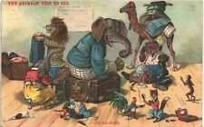 More details for the animals' trip to sea by g.h.thompson. series # 179 by nister. the packing.