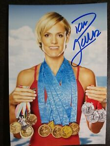 DANA TORRES Authentic Hand Signed 4X6 Photo - OLYMPIC GOLD MEDAL SWIMMER