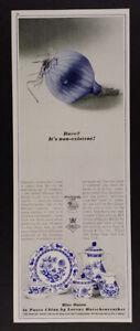 1965 Lorenz Hutschenreuther Blue Onion Pasco China vintage print Ad