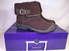 Easy Spirit Explorer 24 Lockdown Suede Ankle Boots Dk Brown 25003198-0GT Size 6