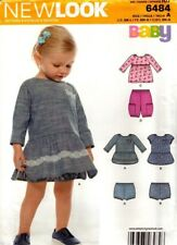 New Look Sewing Pattern 6484 Babies Dress, Bloomers Size NB-L