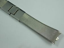 Vintage Mint Unused Stainless Kreisler butterfly clasp curved watch band 17.5mm