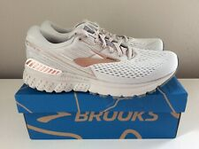 NEW Brooks Adrenaline GTS 19 Metallic Women's Shoes - White/Copper - Sz 10