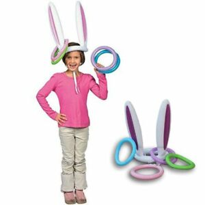 Children's Pool Toys Easter Bunny Ears Rabbit Hat Ring Toss Game Party Toys