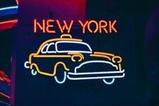 "New York City Cab Car Neon Lamp Sign 20""x16"" Bar Light Garage Windows Display"