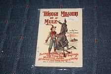 1947 Through Missouri on Mule Thos Jackson funny railroad songs old time sayings