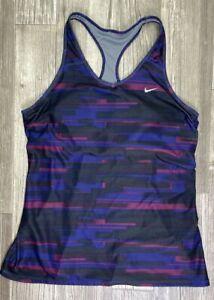 Women's XL Nike Dri-Fit Running Racerback Tank Top Shelf Bra Mesh Back