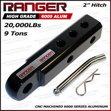"Ranger 2"" Aluminum Hitch Receiver 3/4"" Shackle Adapter 20,000 LBs - Black"