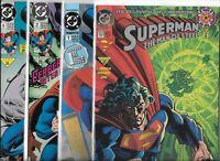 Superman: The Man of Steel  #0, #1, #2, & #4   Lot of 4 (1991, DC Comics)