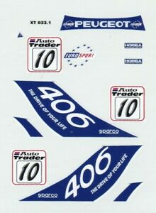 decals BTCC 1/43 - Peugeot 406 #10 1996 Patrick Watts