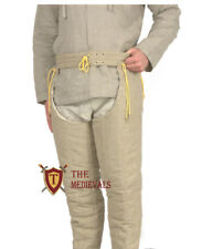 THICK PADDED LAGGING MEDIEVAL GAMBESON CHAUSSES LOWER UNDER HAUBERK ARMOR