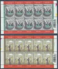 Belgium**FOUNTAINS-QUICK & FLUPKE-TINTIN MAGAZINE-5 SHEETS@10stamps-2003-MNH