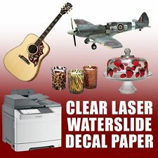 "LASER waterslide decal paper CLEAR 10 sheets 8.5""x11"""