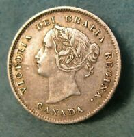 1871 Canada Silver 5 Cents KM# 2 High Grade Canadian Coin #4390