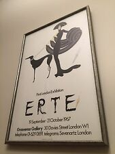 Erte Symphony in Black - Signed Poster Print
