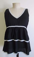 Delia's Black Sleeveless Tiered Ruffle Baby Doll Top Size M