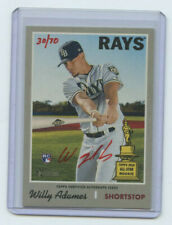 2019 TOPPS HERITAGE HIGH # RED AUTOGRAPH RC WILLY ADAMES #30/70 RAYS
