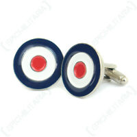WW2 Style BRITISH ROUNDEL CUFFLINKS Royal Air Force RAF Enamel Cuff Links - NEW