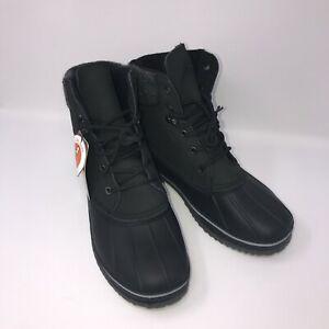 New Northside Lewiston Men's Waterproof Lace-up Duck Boot Black Size 9 BS15