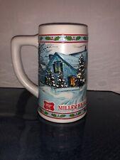 Vintage 1985 Miller High Life Collector Series Holiday Christmas Beer Mug Stein