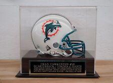 Football Mini Helmet Display Case With A Fran Tarkenton Engraved Nameplate