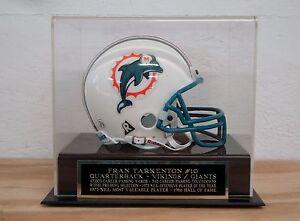 Fran Tarkenton Football Mini Helmet Display Case W/ An Engraved Nameplate