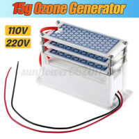 110V 220V Ozone Generator 15g/h Ozonizer Air Purifiers Disinfection Deodorizer !