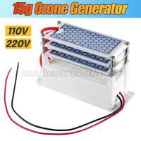 110V 220V Ozone Generator 15g/h Ozonizer Air Purifiers Disinfection Deodorizer