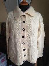Women's Hip Length Button Wool Blend Chunky, Cable Knit Knit Jumpers & Cardigans